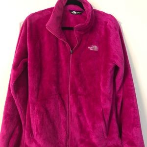 NorthFace Women's Hot Pink Fleece Jacket Size L